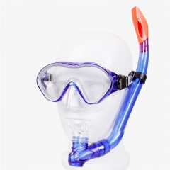 Diving Mask with Half Dry Snorkel Submarine Sports Goggles Snorkel Set for Kids Blue 41.8*28.9*2.6cm