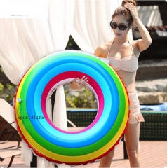 Swimming Ring Laps Pool Floats Inflatable Donut Swim Ring Summer Water Toy Inflatable Floats Pool As Picture-60 60-70-80-90