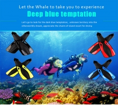 Swimming Fins Submersible Long Swimming Snorkeling Foot Profession Diving Fins Flippers Water Sports Black-XS XS-S-M-ML