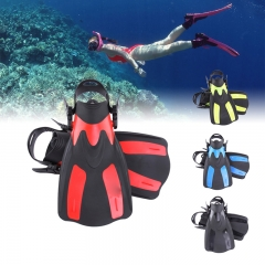 Diving Fins Foot Flipper Swimming Diving Snorkeling Comfortable Swimming Diving for Diver Black-M M-L