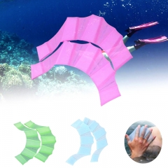 Webbed Gloves Flippers Silicone Material Palm Swimming Fins for Hands_sailor Diving Webbed Pink-S S-M-L