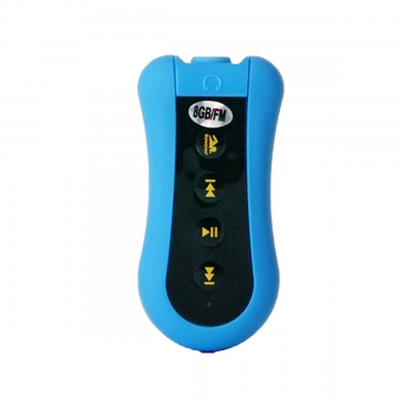 Sport Waterproof MP3 Player FM Radio for Swimming/Running Underwater Jogging/SPA Blue 5.5*3.3cm