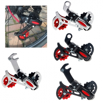 Race Car Rear Derailleur Speed Transmission Bicycle Shift Chain Dial Mountain Road Bike Roller Guide Black Hook Dial