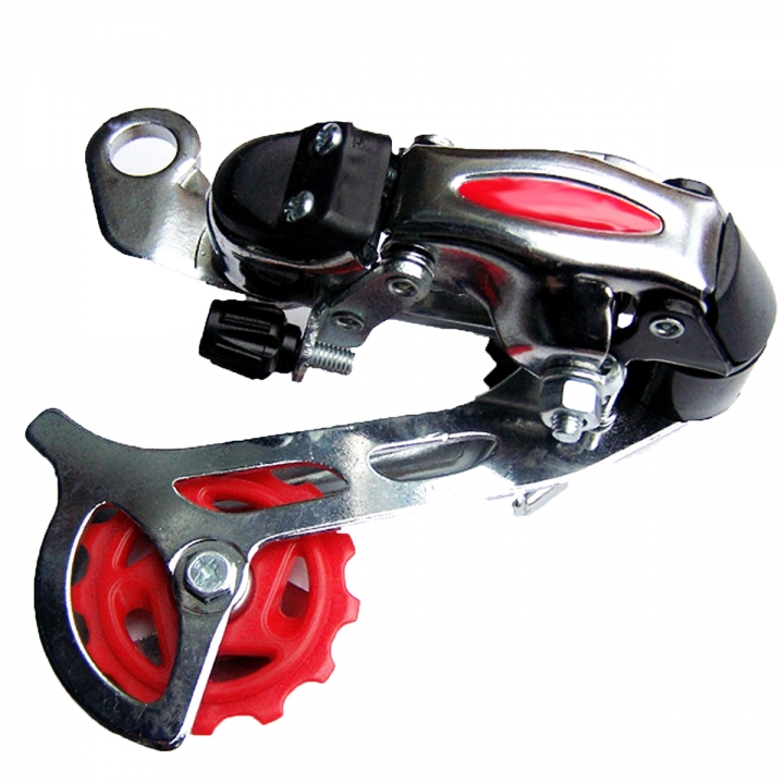 Race Car Rear Derailleur Speed Transmission Bicycle Shift Chain Dial Mountain Road Bike Roller Guide Black Round Hole