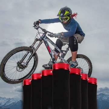 Bicycle Handlebar Mountain Bike Cycling Grips Soft Comfortable Anti-Slip Sponge Handlebar Grips Red