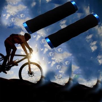 Bicycle Handlebar Mountain Bike Cycling Grips Soft Comfortable Anti-Slip Sponge Handlebar Grips Blue