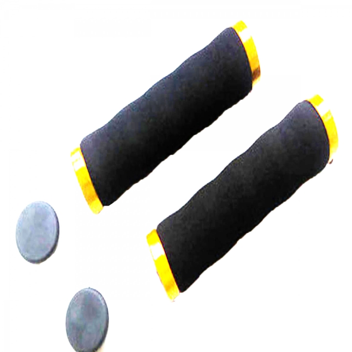 Bicycle Handlebar Mountain Bike Cycling Grips Soft Comfortable Anti-Slip Sponge Handlebar Grips Yellow
