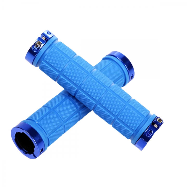1Pair Cycling Handlebar Mountain Bike Bicycle Car-covers Rubber Anti-slip Handle Grips Blue