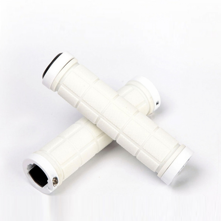 1Pair Cycling Handlebar Mountain Bike Bicycle Car-covers Rubber Anti-slip Handle Grips White
