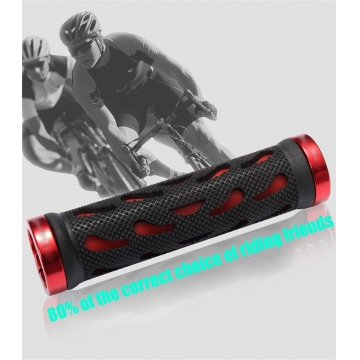 Anti-skid Bicycle Grips Mountain Bike Cycling Bicycle Handlebar Comfort Lockable for  Bike Bar Grips Red