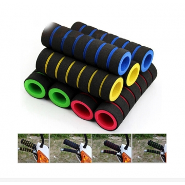 Bicycle Grips Sponge Handlebar Cover Soft Foam Anti-Slip Handle Bar for Outdoor Sports Riding Cyling Red