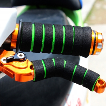 Bicycle Grips Sponge Handlebar Cover Soft Foam Anti-Slip Handle Bar for Outdoor Sports Riding Cyling Green