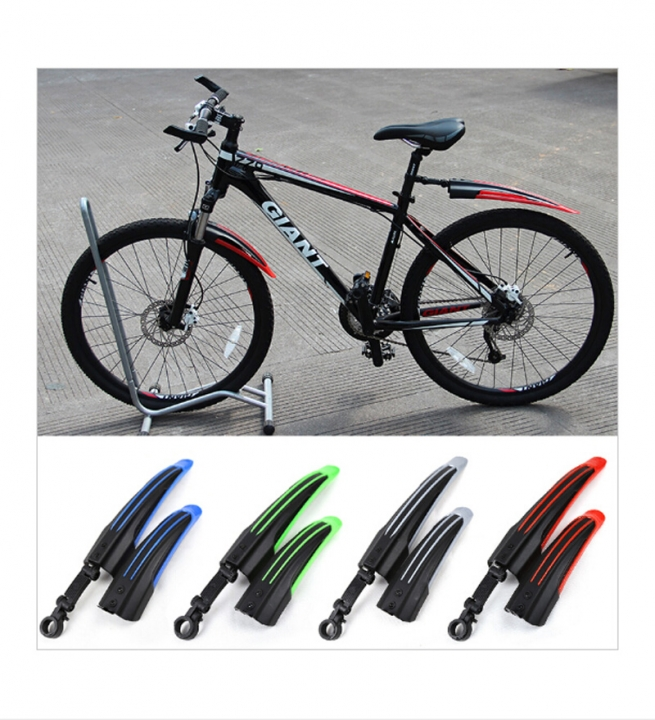 Mountain Bike Mudguard Front Rear Quick Release Cycling Bicycle Fenders Red