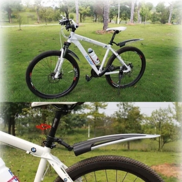 Mountain Bike Mudguard Front Rear Quick Release Cycling Bicycle Fenders Black