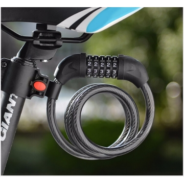 Bicycle Lock Code Key Locks Bike Cycling Password Combination Security Steel Wire Locks As Picture