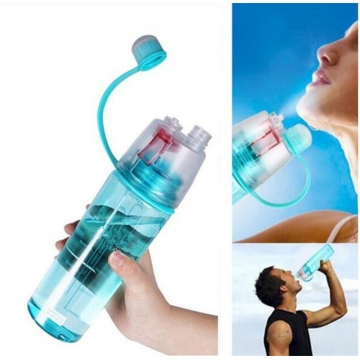 Creative Spray Sport Water Bottle Cycling Fruit Juice Bicycle Portable Kettle Shaker Water Bottle Pink-400 400ML/600ML