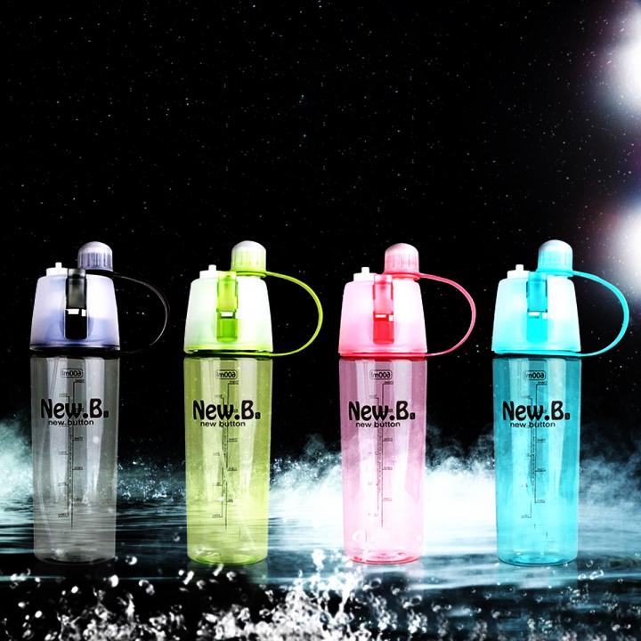 Creative Spray Sport Water Bottle Cycling Fruit Juice Bicycle Portable Kettle Shaker Water Bottle Green-600 400ML/600ML