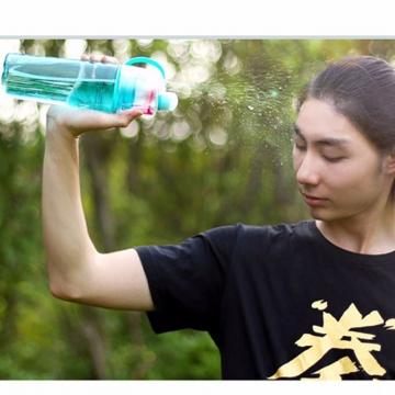 Creative Spray Sport Water Bottle Cycling Fruit Juice Bicycle Portable Kettle Shaker Water Bottle Blue-600 400ML/600ML