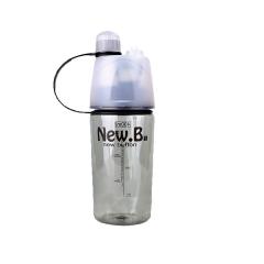 Creative Spray Sport Water Bottle Cycling Fruit Juice Bicycle Portable Kettle Shaker Water Bottle Black-600 400ML/600ML