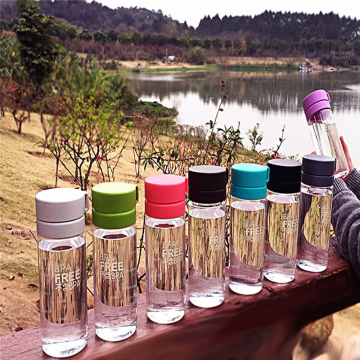 Portable Transparent Water Bottle Creative Bicycle Camping Hiking My Sport Drink Weter Bottle Radom Color 600ML