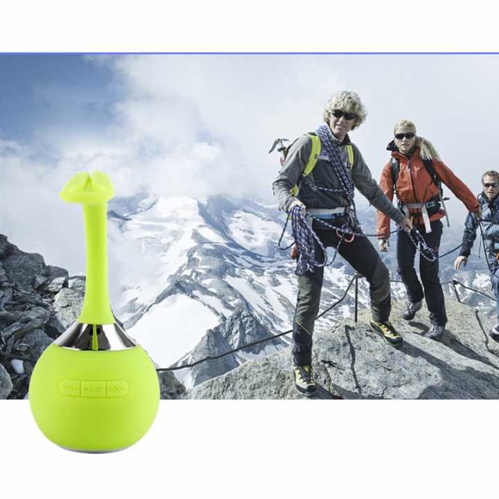 Waterproof Bluetooth Speaker Handsfree Super Mini Wireless Shower Speakers Support SD Card Green