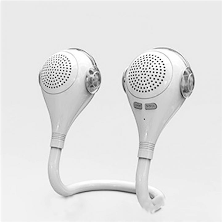 Wireless Bluetooth Speaker Folding Outdoor Sports Bike Bluetooth Stereo USB Portable White & Gary