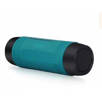 Bluetooth Speaker LED Flashlight  Portable Audio Subwoofer Waterproof Outdoor Riding Stereo Speakers Light Green
