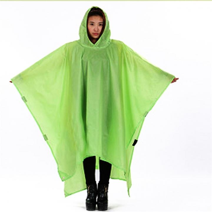 Outdoor Climbing Cycling Rain Cover Triple Backpack Climbing Raincoat Poncho Waterproof Camping Tent Green