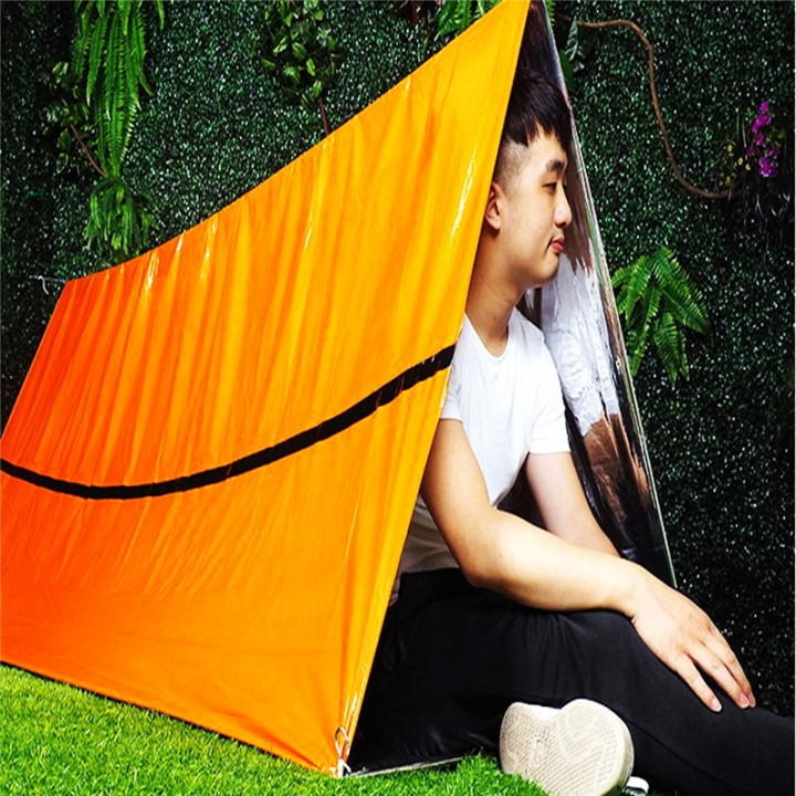 Camping  Emergency Blanket First Aid Survival Rescue Curtain Life-Saving Tent Tools Outdoor Survive At Picture 22x16x4cm