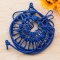 Retractable Clothesline Hanger Clothing Rope Outdoor Slip-resistant Windproof Clothing  Clothespin Blue