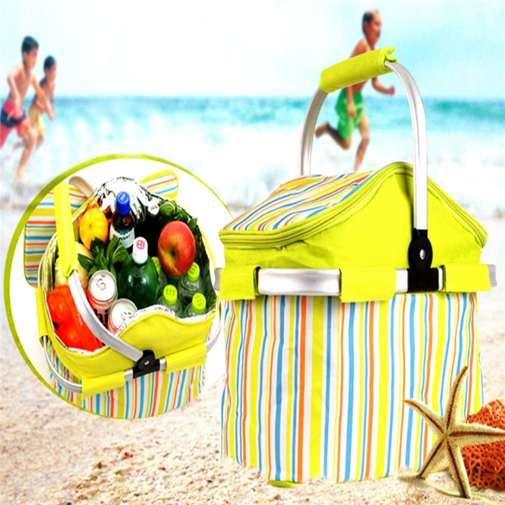 Waterproof BBQ Bag Lunch Bag Neoprene Thermal Bag for Lunch Boxes Picnic Cooler Bag BBQ Tools Green