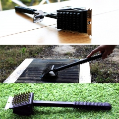 BBQ Triple Barbecue Grill Brush Copper Steel Cleaning Brushes Barbeque Kitchen Cleaning Tools