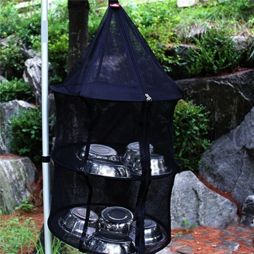 Hanging Net Drying Rack Wardrobe Clothes Basket Laundry Storage Herb Bud Drying Basket Collapsible At Picture
