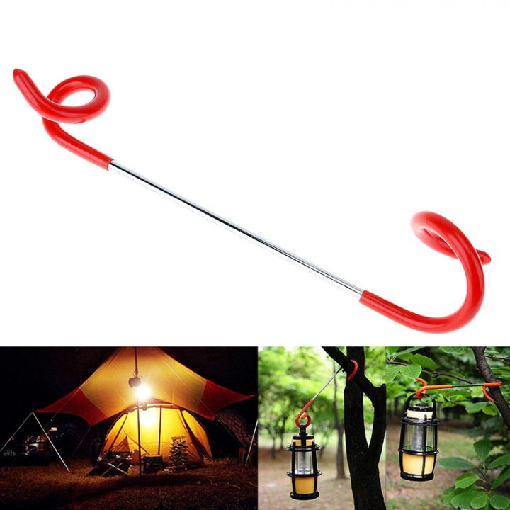 Outdoor Camping Lamp Hanger Camping Tent Lantern Hook Two-way Universal Light Travel Hanger  Hanging At Picture