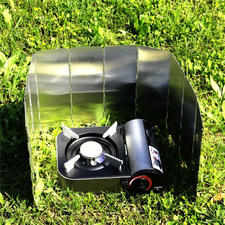Gas Stove windproof Foldable Stove Folding screen Alloy Windshield For Camping Outdoor Picnic At Picture