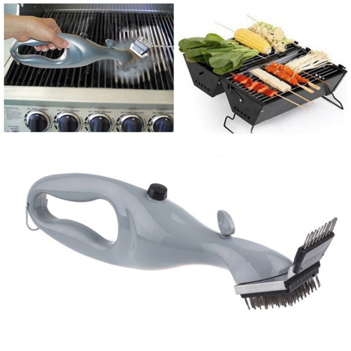 Steel BBQ Cleaning Brush Churrasco Barbecue Grill Cleaner with Power of Steam Cooking Tools Gary