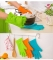 Kitchen Cooking Microwave Oven Non-slip Mitt Silicone Insulated Glove Colorful Kitchen Accessories Random Color-1 Pair