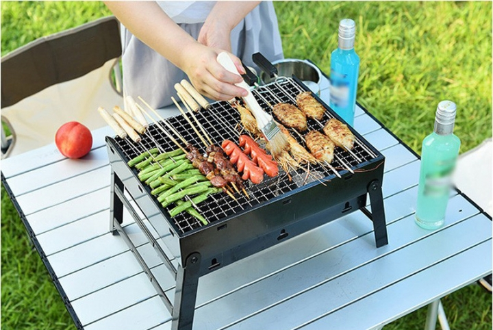 BBQ Outdoor Grill Charcoal Stove Full Set of Barbecue Tools Household Portable 3-5 People At Picture