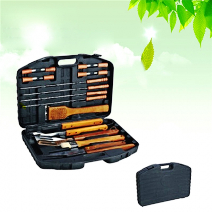 BBQ Tools Grill Barbeque Skewers Outdoor Barbecue Handle Brush Pinceis Blade Fork Tongs BBQ Tools At Picture