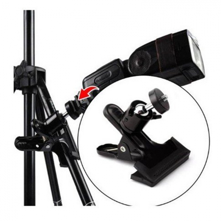 Camera Clip Photography Metal Clip Clamp Holder Mount with 360 Degree Rotate Head 1/4 inch Screw At Picture