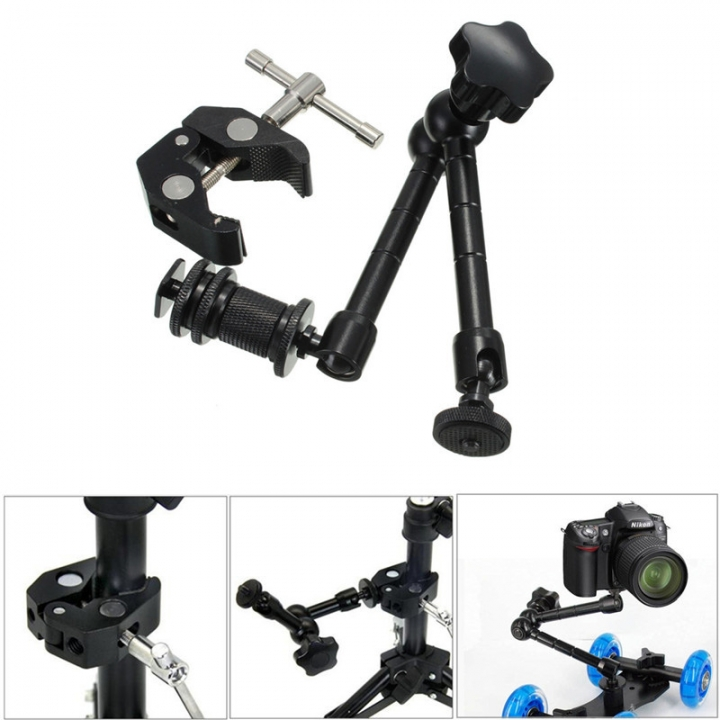 Crab Pliers Clip Super Clamp for DSLR Rig LCD Monitor Studio Light Magic Arm Camera At Picture