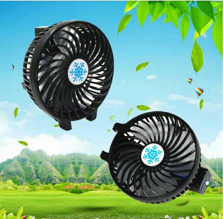 Hand-held Portable Lithium Battery Life USB Fan Students Dormitory Rechargeable Mini Fan Black