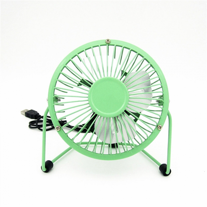 Small Desk USB Cooler Cooling Fan USB Mini Fans Operation Super Mute Silent PC Laptop Notebook Green