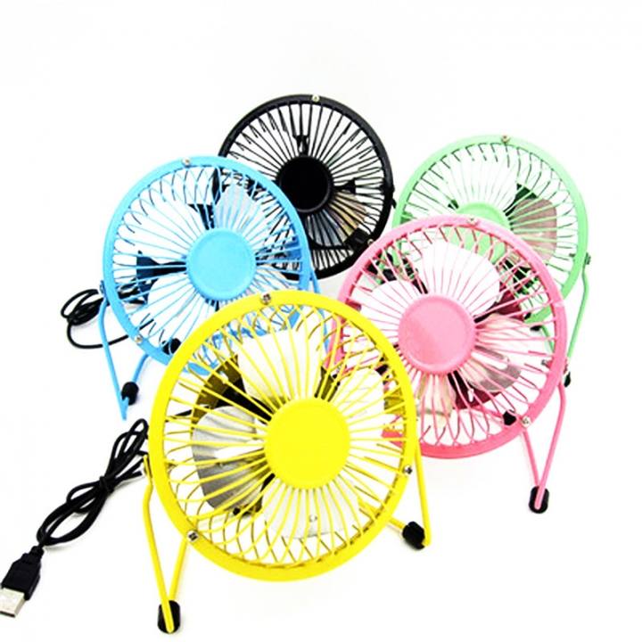 Small Desk USB Cooler Cooling Fan USB Mini Fans Operation Super Mute Silent PC Laptop Notebook White