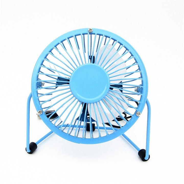 Small Desk USB Cooler Cooling Fan USB Mini Fans Operation Super Mute Silent PC Laptop Notebook Blue