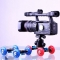 Mini Desktop Camera Rail Car Table Dolly Car Video Slider Track For canon 60d 650D 550D Red