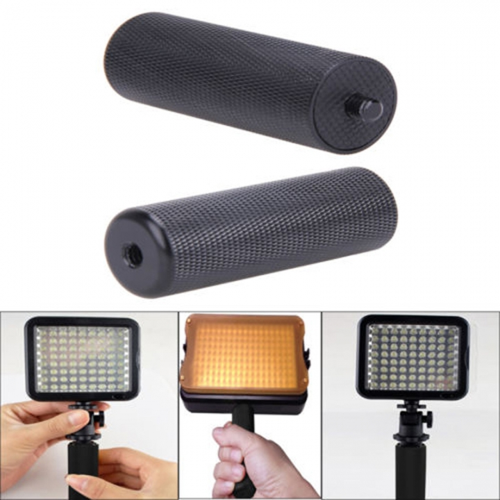 Black 1/4'' Metal Handle Hand Grip Camera SLR DSLR Stabilizer for LED Flashlite Hot Sale As Picture
