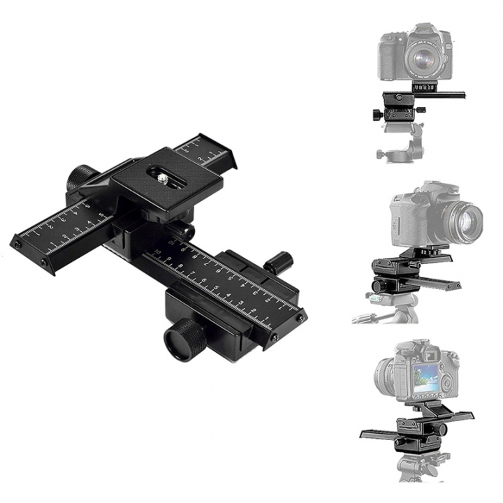 um Bracket Photography 4-Way Macro Focusing Rail Slider /Close-up Shooting with Tracking Number As Picture