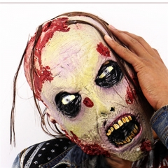 Halloween Masquerade Mask Nausea Zombie Horror Mask Halloween Party Props Masks At picture Free size