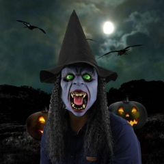 Full Head Fangs Witch Mask Latex Horrible Ghost Masks Masquerade Halloween Party At picture Free size